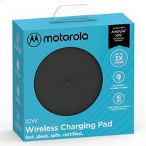 Carregador Wireless Sem Fio Motorola 10w Com Cabo De Carga Usb-C - Preto -