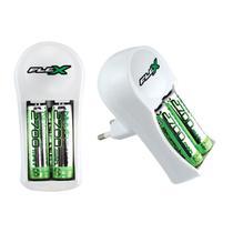 Carregadores FX-C12 Flex para Pilhas AA-AAA 9V com 2 Pilhas -