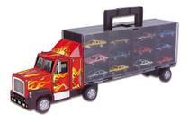 Carreta C/12 Carrinhos Infantil Caminhão Cegonha Criança - Braskit