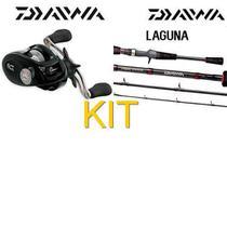 Carretilha Daiwa Laguna 100hsla Esquerda 6 Rol + Vara Daiwa -