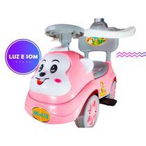 Carrinho Andador Musical Infantil Rosa UNITOYS -