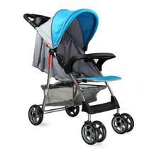 Carrinho Baby Style de Bebê Passeio Reclinavel Esmeralda Azul -
