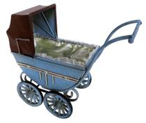 Carrinho bebe  28cm miniatura metal vintage retro decorativa - Tok Vintage