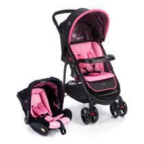Carrinho Bebê Travel System e Bebê Conforto Rosa Nexus Cosco - Dorel