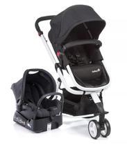 Carrinho Bebê Travel System Mobi - Safety 1st Black And Whit -