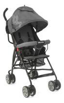 Carrinho Bebê Umbrella Preto Com Cinza Baby Style -