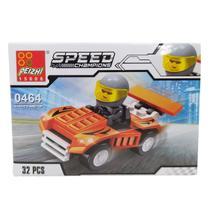 Carrinho Blocos Para Montar Estilo Lego Speed Race 18075 - Spider