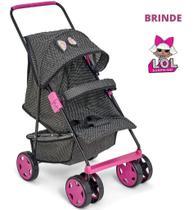 Carrinho Boneca Bebê Reborn Milano Luxo - Brinde Lol Surprise - Oliveira