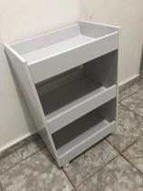 Carrinho Branco Suporte Auxiliar D Toalhas C/ Rodinhas - Clickforte