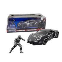 Carrinho Brinquedo Lykan Hypersport DTC E Miniatura Pantera Negra -