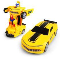 Carrinho Camaro que Transforma em Robô C/ Luz - Yijun