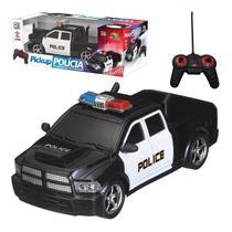 Carrinho Carro Controle Remoto Policia Bateria Recarregável - Art brink