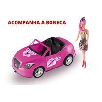 Carrinho Carro Conversível P/ Boneca Barbie - 46cm - Zucatoys