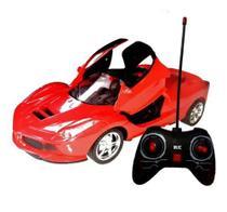 Carrinho Carro De Controle Remoto Tipo Ferrari Com Luz Farol Speed Racing - Dr
