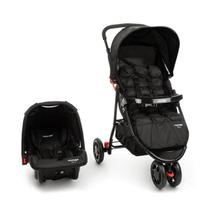 Carrinho com Bebê Conforto Travel System Delta Voyage Preto -