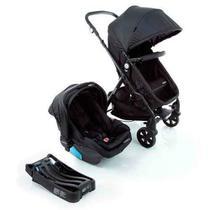 Carrinho com Bebê Conforto Trio Poppy Travel System Preto Mescla - Cosco -