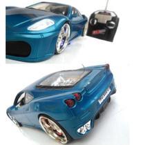Carrinho Controle Remoto Ferrari corrida LEDs - AZUL - Toys