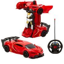 Carrinho Controle Remoto Infantil ChangeBot Carro Robô Bate e Vira +3 Anos Polibrinq -