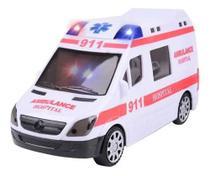 Carrinho De Ambulância Eletrônico Com Som Leds Bate E Volta - toys
