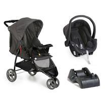 Carrinho de bebê 3 Rodas Cross Trail com Bebê conforto e Base Preto - Galzerano -