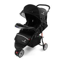 Carrinho de Bebê 3 Rodas Vira Berço Reclinável Unissex Preto - Color Baby