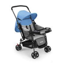 Carrinho De Bebê Berço Com Bandeja Nap Weego Azul - 4012 -