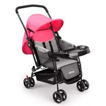 Carrinho De Bebê Berço Com Bandeja Weego rosa -