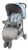 Carrinho de bebê Berço/Passeio Triciclo Junne Ondas Azul Baby Style -