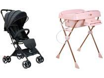 Carrinho de Bebê Burigotto IT para Crianças até  - 15kg + Banheira de Bebê Burigotto Millenia