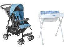 Carrinho de Bebê Burigotto Rio K - 15kg + Banheira Millenia Peixinhos 20L