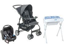 Carrinho de Bebê com Bebê Conforto Burigotto - Travel System Rio K 15kg + Banheira de Bebê 20L