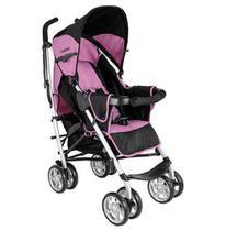 Carrinho de Bebê Cross Rosa e Preto - Kiddo -