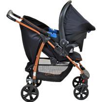 Carrinho de Bebê Ecco Preto Cobre - Travel System Burigotto -