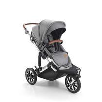 Carrinho de bebê jet 3 rodas cinza - litet -