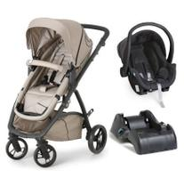 Carrinho de Bebê Maly Black Beige + Bebê Conforto Cocoon + Base - Dzieco -