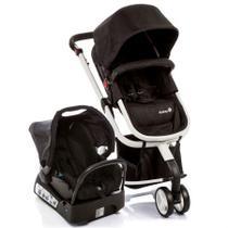 Carrinho de Bebê Mobi Travel System Preto e Branco 15kg Com Base - Safety 1ts -