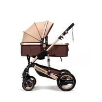 Carrinho de Bebê, Modelo 535-Q3, Cor: Caqui Material Chassi: Liga de Aluminio, tecido: oxford e plástico. Numero Maxima - Probaby Brasil