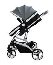Carrinho de Bebê Moisés com Bebê  Conforto - Blu - Cinza - Dardara -