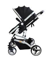 Carrinho de Bebê Moisés com Bebê  Conforto - Blu - Preto - Dardara -