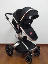 Carrinho De Bebê Moisés- Modelo Giro - Preto - Dardara -