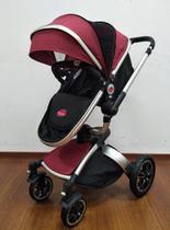 Carrinho De Bebê Moisés- Modelo Giro - Vermelho - Dardara -