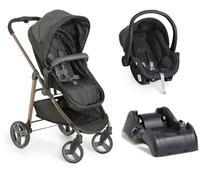 Carrinho de Bebê Moisés Olympus Black  + Bebê conforto + Base - Galzerano -