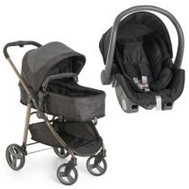 Carrinho de Bebê Moisés Olympus Black + Bebê Conforto - Galzerano -