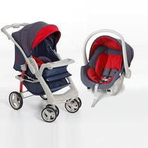 Carrinho de Bebê Optimus Jeans + Cocoon Galzerano 1410JNS -