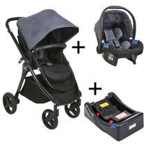 Carrinho de Bebê Passeio 3 em 1 Travel System Moises + Bebê Conforto Touring X + Base Soul Burigotto - Burigotto Imp