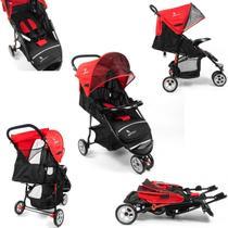 Carrinho De Bebê Passeio Com Bandeja Vira Berço vermelho speed - Color Baby