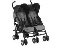 Carrinho de Bebê Passeio Gêmeos Chicco Echo Twin - Reclinável 2 Posições para Crianças até 15kg