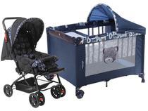 Carrinho de Bebê Stillo Unissex  - 0 a 15kg + Berço Voyage Funny Desmontável