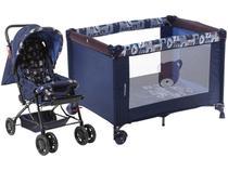 Carrinho de Bebê Stillo Ursinho - 0 a 15kg + Berço Voyage Funny Desmontável