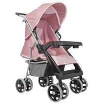Carrinho de Bebê Thor Plus Rosa Coroa - Tutti Baby